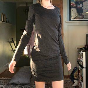 Gray l/s bodycon dress